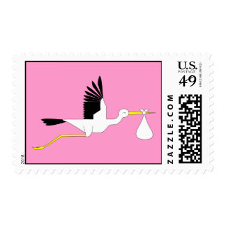 Stork Insignia Stamp - Baby Girl