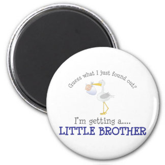 Stork Little Brother T-shirt 2 Inch Round Magnet