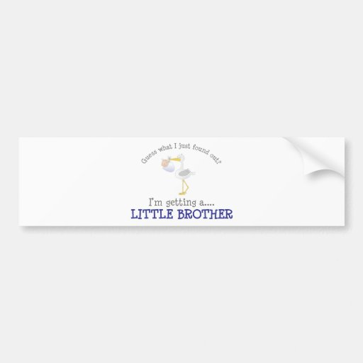 Stork Little Brother T-shirt Bumper Sticker
