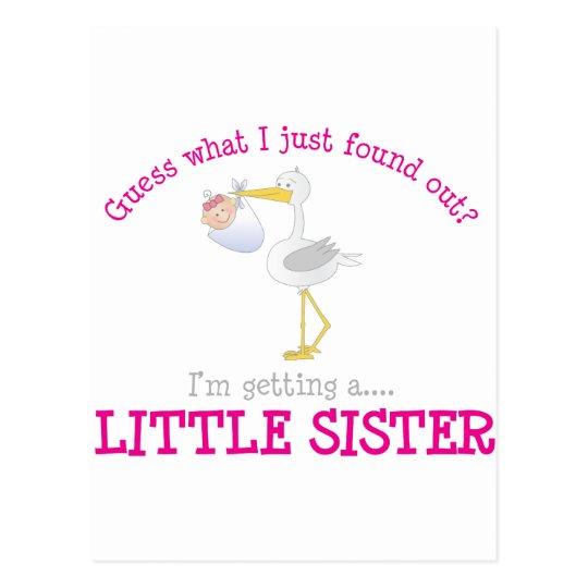 Stork Little Sister T-shirt Postcard