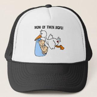 Stork Mom of Twin Boys Trucker Hat