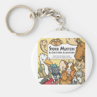 Stork Musters Basic Round Button Keychain