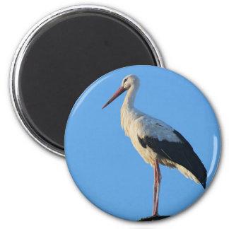 Stork on pole magnet