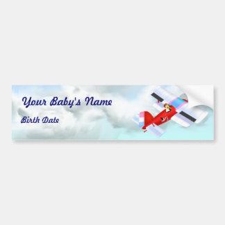 Stork Plane Bumper Sticker
