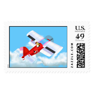 Stork Plane Postage