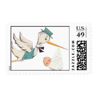 Stork Postage Stamp