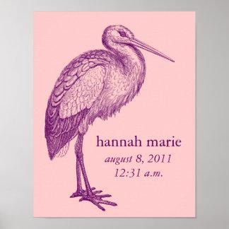 Stork print for baby's room