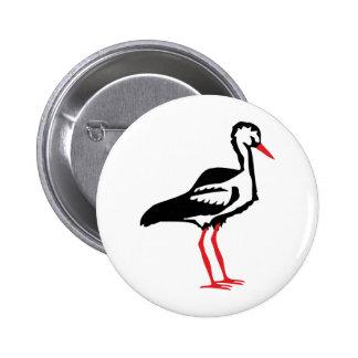 stork symbol 2 inch round button