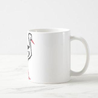 stork symbol coffee mug