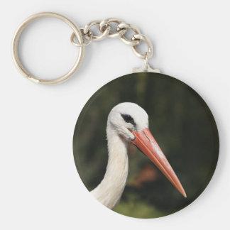 Stork - symbol of Strasbourg and Alsace, France Basic Round Button Keychain