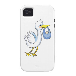 STORK WITH BABY BOY Case-Mate iPhone 4 CASE