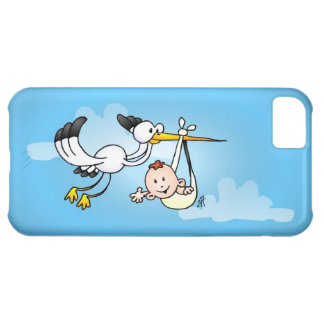 Stork with baby case for iPhone 5C