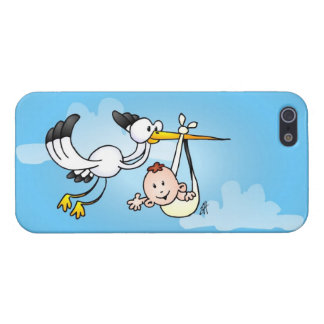 Stork with baby case for iPhone SE/5/5s
