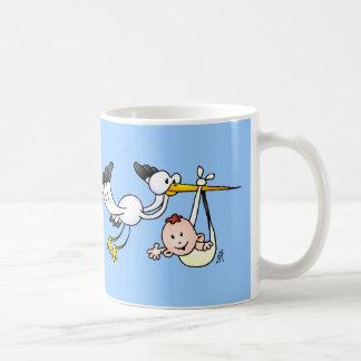 Stork with baby coffee mug