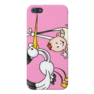 Stork with baby cover for iPhone SE/5/5s