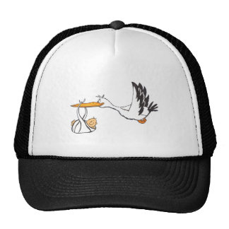 Stork with Baby - Gift for Parents to be Trucker Hat