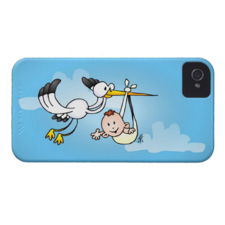 Stork with baby iPhone 4 cover