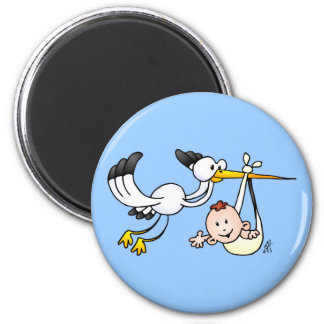 Stork with baby magnet