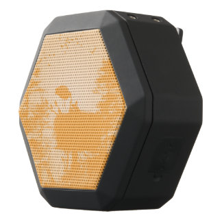Stork with his young in the nest black bluetooth speaker