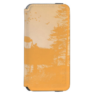 Stork with his young in the nest iPhone 6/6s wallet case