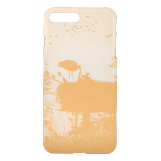Stork with his young in the nest iPhone 8 plus/7 plus case