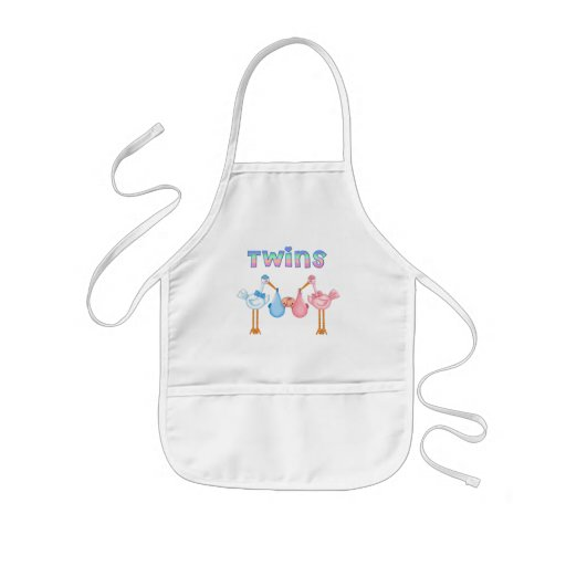 Stork with Twins Kids' Apron