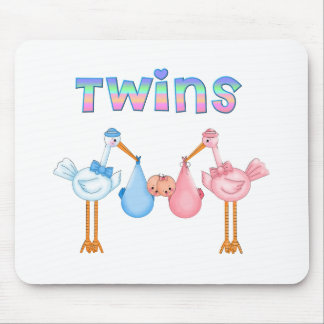 Stork with Twins Mouse Pad