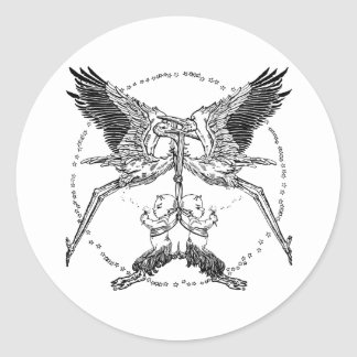 Storks and Satyrs Classic Round Sticker