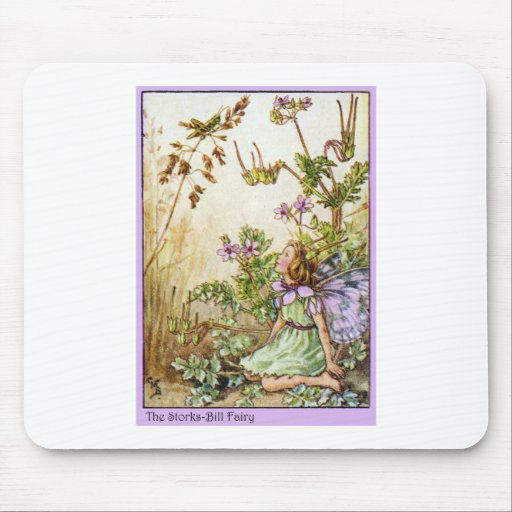 Storks Bill Fairy Mouse Pad