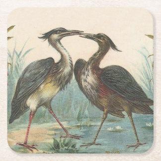 Storks Square Paper Coaster