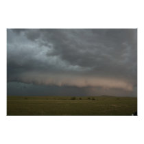 Storm Approaching Farm Poster