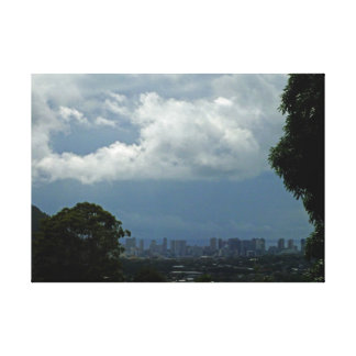 Storm Approaching Waikiki Canvas Print