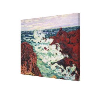 Storm at Agay, 1895 Canvas Print