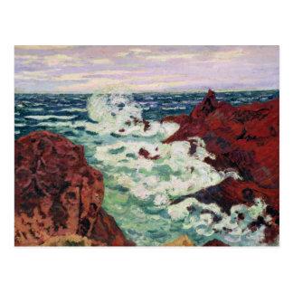 Storm at Agay, 1895 Postcard