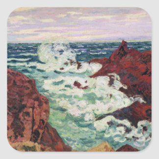 Storm at Agay, 1895 Square Sticker