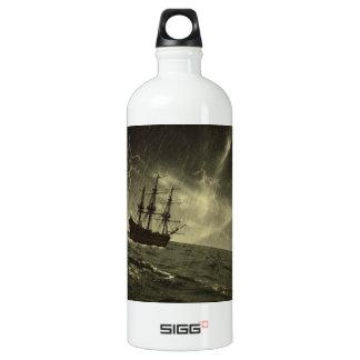 Storm at Sea Aluminum Water Bottle