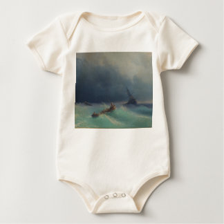 Storm at Sea by Ivan Aivazovsky 1873 Baby Bodysuit
