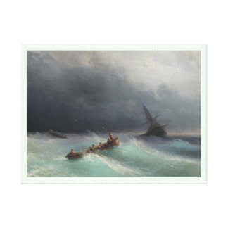 Storm at Sea Ivan Aivasovsky seascape waterscape Canvas Prints