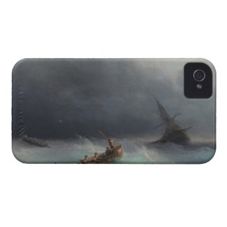 Storm at Sea Ivan Aivasovsky seascape waterscape Case-Mate iPhone 4 Cases