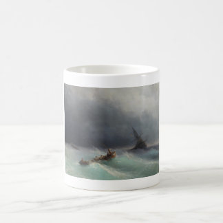 Storm at Sea Ivan Aivasovsky seascape waterscape Coffee Mug