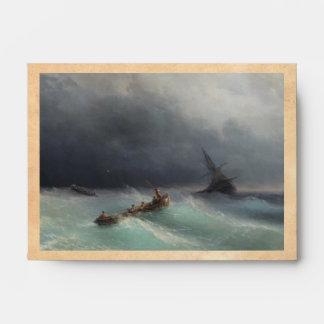 Storm at Sea Ivan Aivasovsky seascape waterscape Envelope