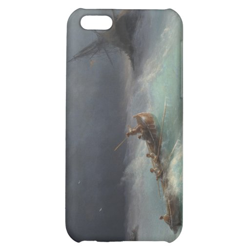 Storm at Sea Ivan Aivasovsky seascape waterscape iPhone 5C Covers