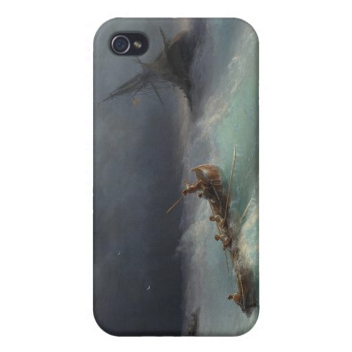 Storm at Sea Ivan Aivasovsky seascape waterscape iPhone 4 Cover