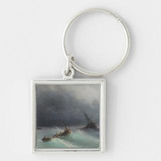 Storm at Sea Ivan Aivasovsky seascape waterscape Keychain