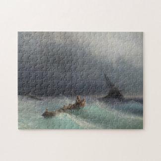 Storm at Sea Ivan Aivasovsky seascape waterscape Puzzle
