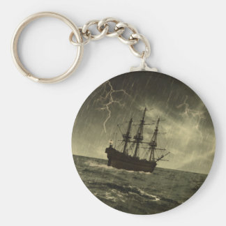 Storm at Sea Keychain