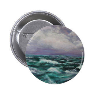 Storm at Sea Pinback Button
