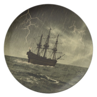 Storm at Sea Plate