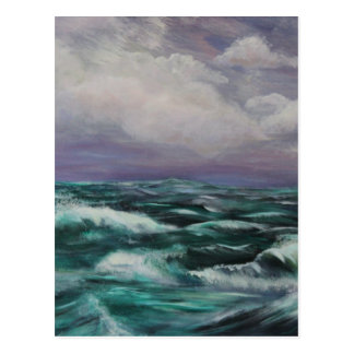 Storm at Sea Postcard
