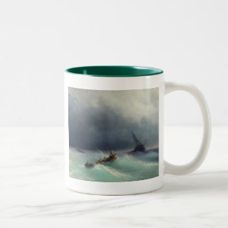 Storm at Sea Two-Tone Coffee Mug